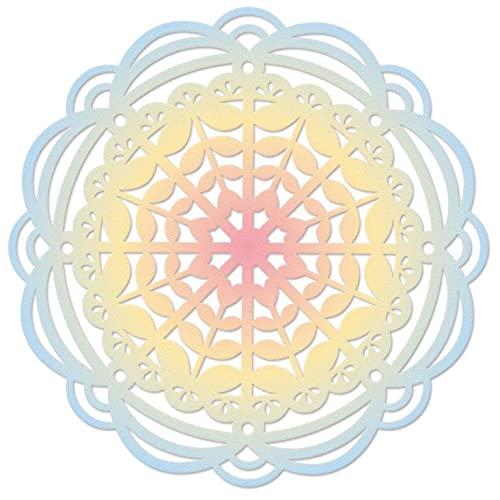 Sizzix Thinlits Troquel Heart Mandala de Eileen Hull, 665587, Multicolor, One Size