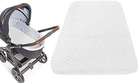 SoComfy Next to me Chicco - Colchón de cuna de viaje transpirable de fibra ecológica impermeable para bebés y niños pequeños, funda acolchada ultra gruesa hipoalergénica (83 x 50 x 5 cm)