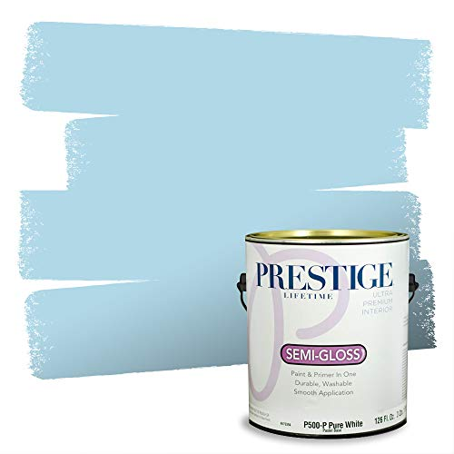Prestige Paints P500-P-SW6956 Interior Paint and Primer in One, 1-Gallon, Semi-Gloss, Comparable Match of Sherwin Williams Blue, 1 Gallon, SW155-Blue Refrain