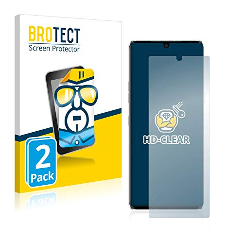 BROTECT Schutzfolie kompatibel mit LG Velvet (2 Stück) klare Bildschirmschutz-Folie