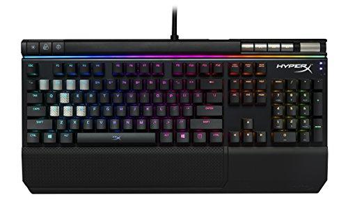 キングストン RGB ゲーミングキーボード 青軸 HyperX Alloy Elite RGB HX-KB2BL2-US/R1 ゲーマー向け USB充電ポート LEDバックライト 2年保証