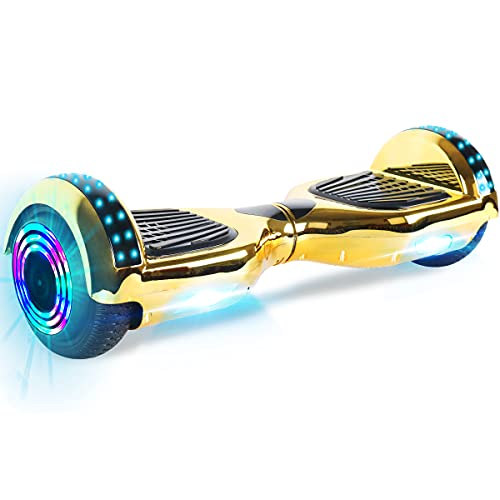 "Windgoo Hoverboard, 6.5\"" Self Balance Scooter mit Bluetooth Lautsprecher, LED Lights Elektro Scooter E-Skateboard (Black)"