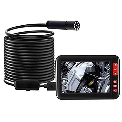 Kacsoo Telecamera di ispezione endoscopio Wireless, Telecamera di ispezione WiFi da 4,3 Pollici 1080P HD endoscopio 10 Metri con 8 LED, per Android, iOS, Smartphone, Tablet di Sistema Mainstream