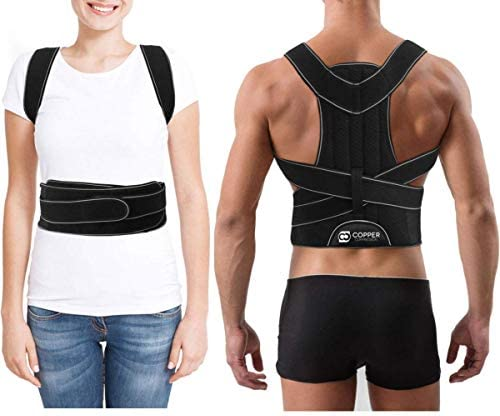 Copper Compression Full Posture Corrector with Support Bars for Men and Women Guaranteed Highest product image