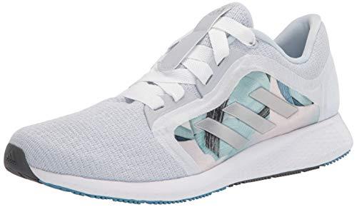 adidas womens Edge Lux 4 Running Shoe, Silver Metallic/White/Grey, 9.5 US