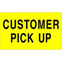 Ship Now Supply SNDL2121 Tape Logic Labels Customer Pick Up 3 x 5 Fluorescent Yellow (1 Roll of 500 Labels) [並行輸入品]