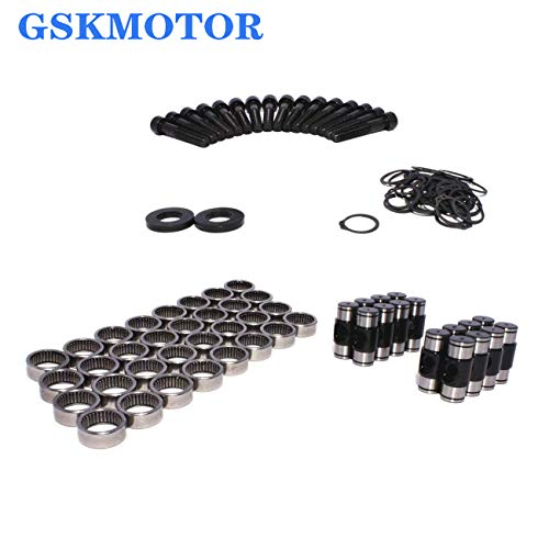 GSKMOTOR Rocker Arms Trunion Repair Upgrade Kit Replacemnt for Chev Pontiac LS 4.8 5.3 5.7 6.0 6.2 LS1