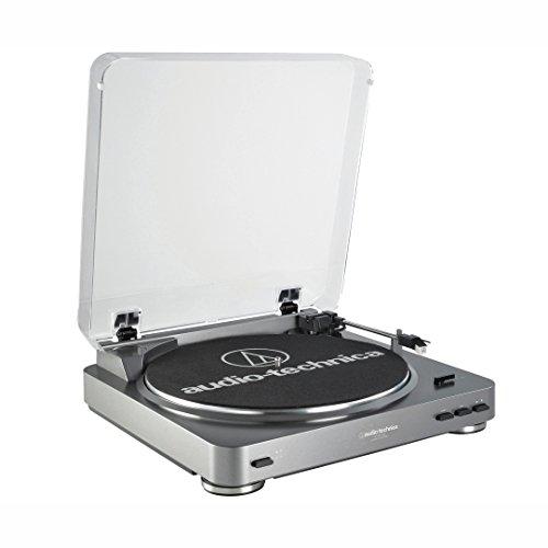 Audio-Technica AT-LP60BT - Tocadiscos (Tocadiscos de tracción por Correa, Negro, Aluminio, 33 1/3,45, 50 dB, 0,25%)