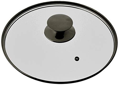 ORBEGOZO 17496 CRITAL per pentole e pentole, 24 cm, coperchio in vetro 24, nero