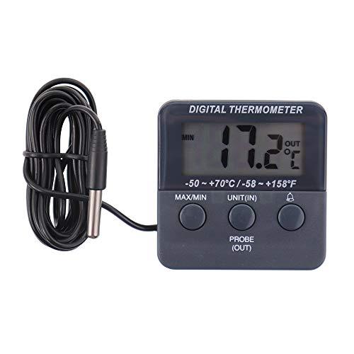 Termómetro digital para nevera, con alarma y función de temperatura máxima y...