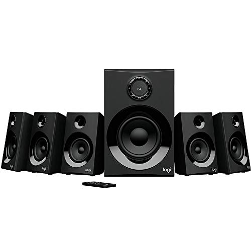 Caixa de som Multimidia Logitech Z607 com Sistema 5.1 Som Surround, Conexão Bluetooth ou 3,5mm - Com Rádio FM, Entrada USB e Leitor SD