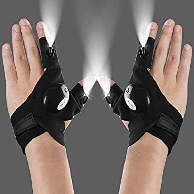 LED Flashlights Gloves, Men/Women Tool Gadgets Gifts for Handyman, Fishing, Repair, 1 Pair by Ding Ding