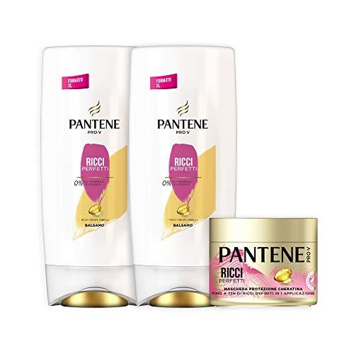 Pantene Pro-V Ricci Perfetti Set Composto da 2 Balsamo Maxi Formato 600 ml e 1 Maschera 300 ml