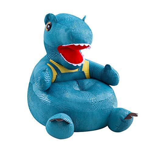PUDDINGT® Dinosaurier Sessel Schlafsofa Tier für Kinder In Outdoor Sitzsäcke Kissen Sofa Sofakissen Hocker Sitzkissen Bodenkissen Füllung Möbel,Blau