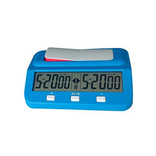 CUPPP Reloj De Ajedrez, Temporizador De Ajedrez De Tablero Digital con Función De Alarma para Ajedrez Y Juegos De Tablero/Reloj De Ajedrez Profesional Portátil Multiusos 3 En 1