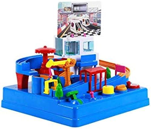 GLJJQMY Flughafen Auto Shaoguan Größe Abenteuer Spur Auto Kinder Tr eit Rutschbahn Lernspielzeug 30x30x33cm Lernspielzeug für Kinder