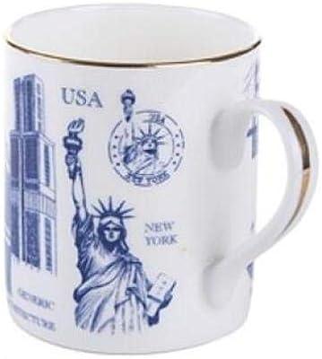 カップ かわいい 高級 贈り物 セラミックカップ中国の骨コーヒーカップの有名なグローバルグローバルクラシックな建物シリーズ磁器カップギフトボックス包装します 電子レンジ オーブン 食洗機対応