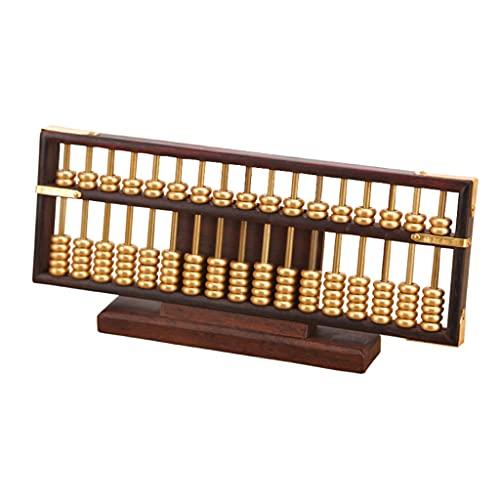 XMCF Calculadora Basica Sobremesa Ábaco DE Madera 17 Columna Matemáticas Profesional Abacus para Adultos CALCULA DE NIÑOS COMENTARIO Herramienta DE Estilo Calculadora de Oficina