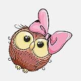 TLZDGX Sticker de Carro Pegatina de Coche Encantadora Lindo Rosa Arco búho Accesorios de niña Impermeable CLORURO DE POLIVINILO Decal 10cmx10cm