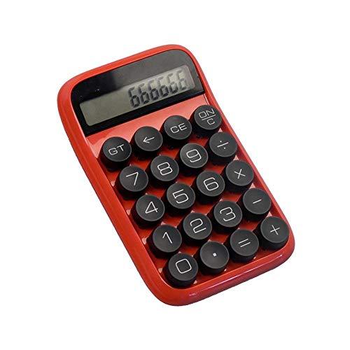BU-SOH Taschenrechner Mechanische Rechner Multi-Funktions-Digital-LCD Scientific Calculator Blau Rot Einfach zu verwenden (Color : Red, Size : One Size)