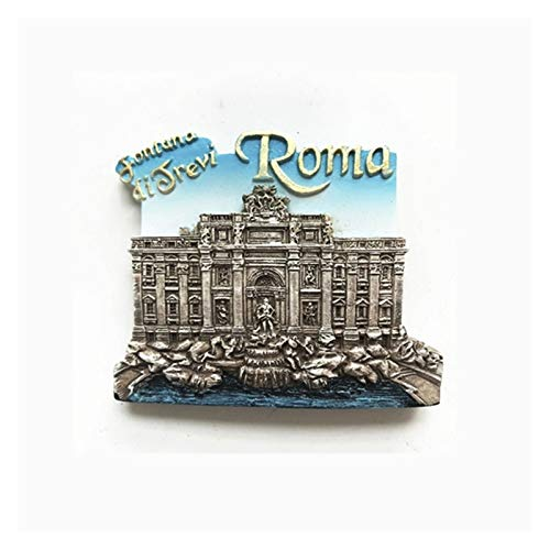 YSVSPRF Kühlschrankmagnete Harz Kühlschrankmagnet Italien Souvenirs Venedig Gondel Perugia Verona Rom Colosseum Trevi-Brunnen Magnetische Aufkleber Dekoartikel (Color : E)