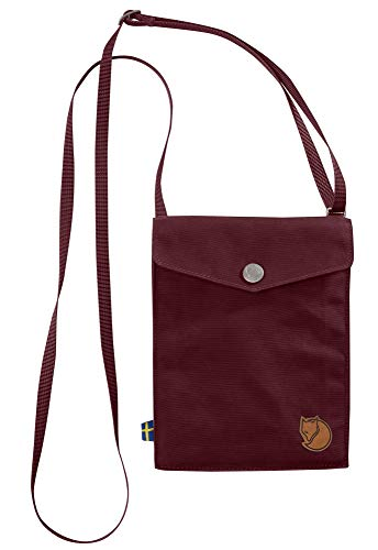 FJÄLLRÄVEN Unisex-Adult Pocket Travel Accessory- Neck Stash, Dark Garnet, 18 cm