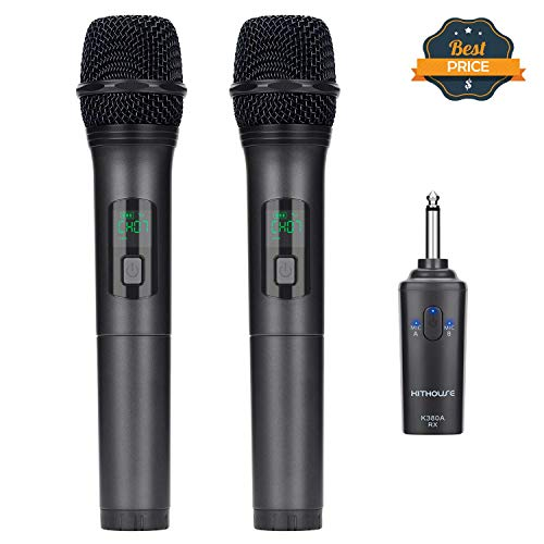 Kithouse K380A Wireless Microphone Karaoke Microphone Wireless Mic Dual...