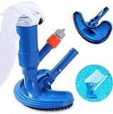 Zhenhan - Aspirador para piscina fuera del suelo, aspirador de piscina, portátil, con bolsa de arena y cepillo, accesorio para estanque