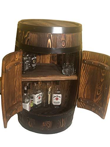 weeco Fass mit Zwei Türen, 80cm Getränkeschrank Weinregal, Alter Stil Holz fassbar