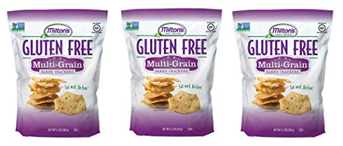 Milton's Gluten Free Crackers (Multi-Grain). Multi-Grain Gluten-Free Baked Crackers (Pack of 3, 4.5 oz).