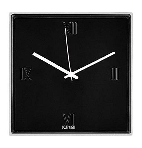 Kartell Tic und Tac Uhr, Plastik, schwarz, 30 x 30 cm
