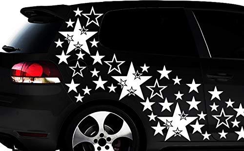 HR-WERBEDESIGN Lot de 93 Autocollants pour Voiture Motif étoiles Dimensions XXL