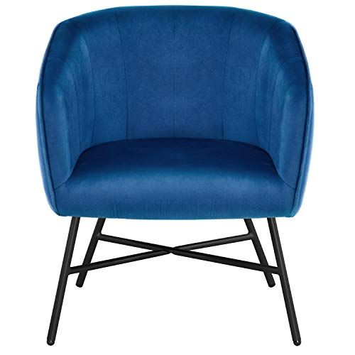 Yaheetech Sessel Clubsessel Armsessel Relaxsessel Wohnzimmer Loungesessel Cocktailsessel Ruhesessel Einzelsofa Blau