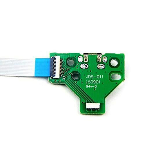 HshDUti 2 Stück USB Ladeanschlussplatine für Sony PS4-Controller JDS-011 12-poliges Flexkabel Green
