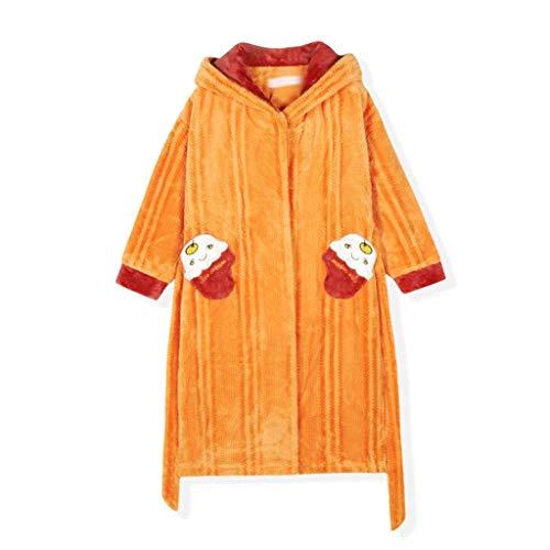 KAYBELE Geiwokai Kids Flannel Bathroboga Ducha Girl Coral Fleece Pajamas Ropa de Dormir Bebé Invierno con Capucha Toalla Robas Pijamas Caliente Campo (Size : 150cm)