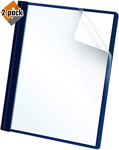 Oxford Clear Front Report Covers, Dark Blue, Letter Size, 25 per Box (55838EE) - 2 Pack