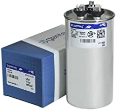 Genteq 50 + 7.5 uF MFD x 440 VAC GE Industrial Replacement Dual Capacitor Round # C45075R / 97F9987