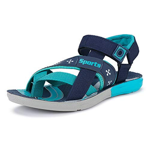 Earton Men Comfortable & Stylish Synethaic Flats/Sports/Casual/Slipper/Sandals Blue