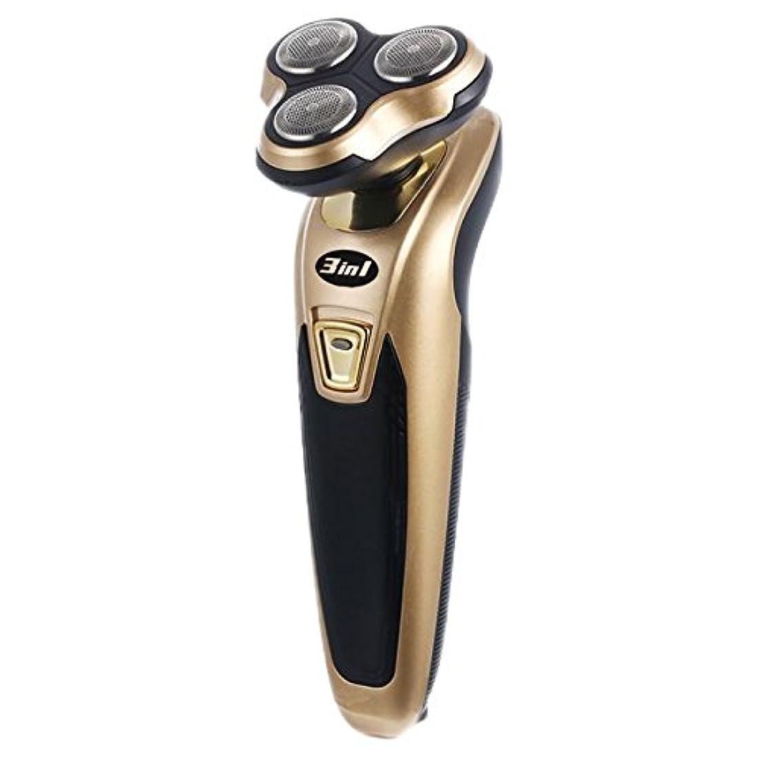 粘土エンゲージメント例示する【3in1】髭剃り、鼻毛カッター、ヘアトリマーの3機能シェーバー