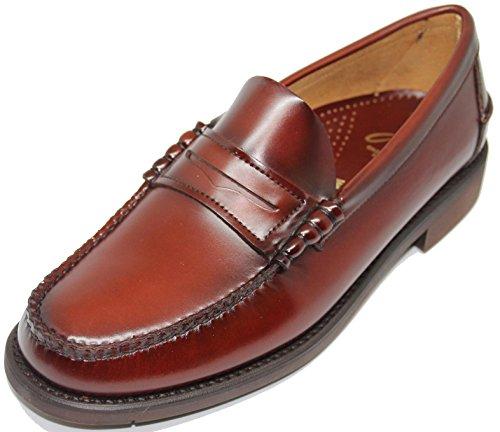 3482. Zapato Mocasín Cosido a Mano EN Inca Mallorca; Piel de Máxima Calidad, Color marrón