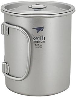 Keith チタンコップ220ml-900mlフォールディングハンドル キャンプ用 マグカップ