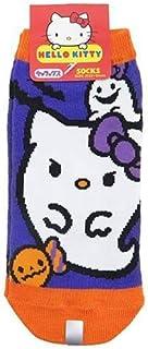 サンリオ キャラクターソックス ハローキティ 靴下 ハロウィン オバケパープル?オレンジ 22cm~24cm HKSOC457
