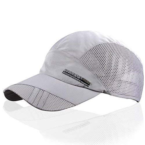LUFA Sommer-Breathable Mesh-Baseballmütze Sport, schnelltrocknende Hüte für Männer hellgrau