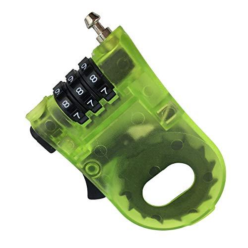 YUANHEN 盗難防止 巻き取り式セキュリティワイヤーケーブル 緑色 携帯 に 便利 な ダイヤル ナンバー 式 - 海外 旅行 やスノーボード(スノボ)やスキーなど ゲレンデ の 防犯ロック 1 pack