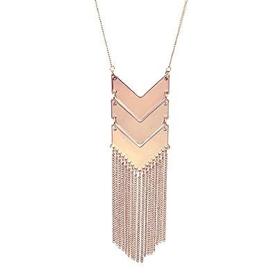 WRISTCHIE Women's Statement Necklace Long Tassels Multi-strands Necklace