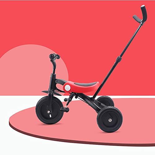 JFTY Kinder, Dreirad, Trolley, 2-3-6 Jahre altes Fahrrad, leicht, zusammenklappbar, Fahrrad