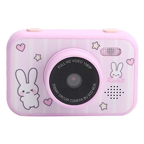 Lazmin112 Cámara para niños, Pantalla de protección Ocular HD de 3,5 Pulgadas, cámara de Juguete para fotografía Digital portátil, Vista previa de Soporte, grabación de Video, niños(Rosa)