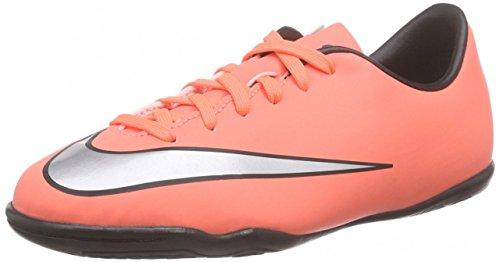 Nike Baby Mädchen Jr Mercurial Victory V IC Schuhe für Neugeborene, Gelb/Silber/Violett (Brght MNG/Mtllc Slvr-Hypr TRQ), 27 EU