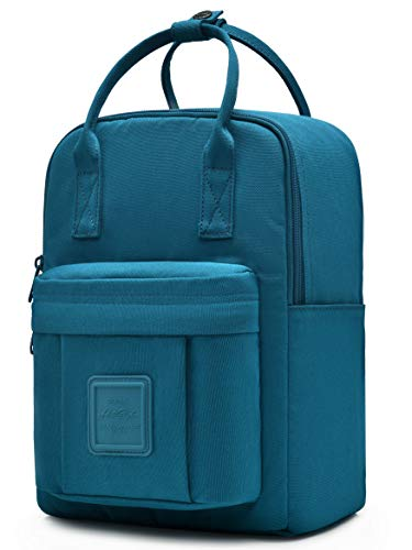 "BESTIE 12"" Small Backpack for Women, Girl's Cute Mini Bookbag Purse, Little Square Travel Bag, Teal"