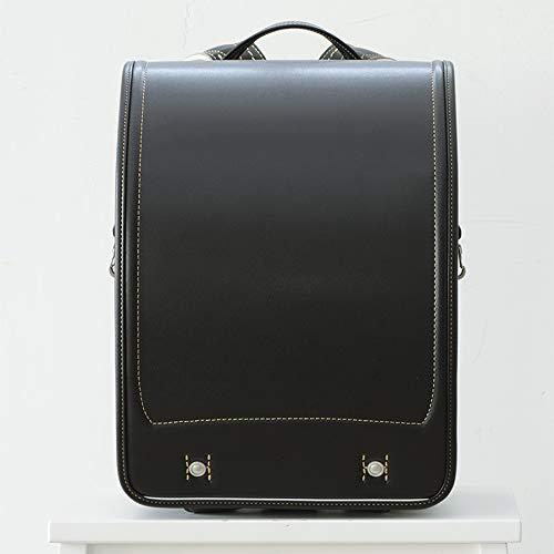 村瀬鞄行ランドセル 2021年 日本製 レザーボルカ LB958 A4フラットファイル対応 牛革 男の子用 キャッシュレスポイント5%還元 (ブラック/ゴールド)